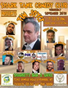 Shark Tank Comedy Club Presents Tim Joyce - Wednesday @ Sharkey's