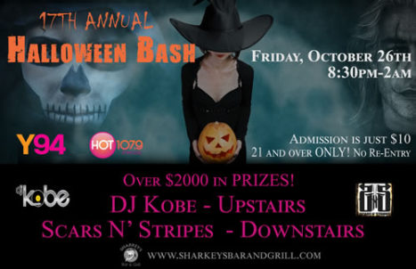 Hot 107.9 and Y94 Annual Halloween Bash - Friday @ Sharkey's