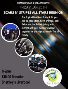 A SPECIAL ANNOUNCEMENT! Scars N Stripes All Star Reunion - Friday @ Sharkey's
