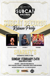 Subcat Records Release Party - KEVIN MICHAEL GIORDANO/ IRV LYONS JR./ THE RIPCORDS - Sunday @ Sharkey's