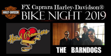 FX Caprara Harley Davidson Bike Night Hard Promises and Barndogs – Thursday @ Sharkey's Summer Stage