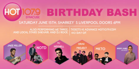 Hot 107.9 Birthday Bash - Saturday @ Sharkey's
