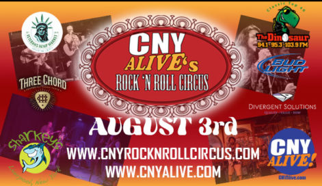 The Dinosaur Radio and Veterans Hemp Market Present CNY Alive Rock N Roll Circus - Saturday @ Syracuse Flooring America Stage @ Sharkey's