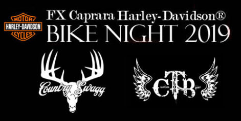 FX Caprara Harley Davidson Bike Night – Country Swag and Custom Taylor Band @ Syracuse Flooring America's Summer Stage at Sharkey's
