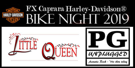 FX Caprara Harley Davidson Bike Night Little Queen and PG Unplugged @ Syracuse Flooring America's Summer Stage at Sharkey's