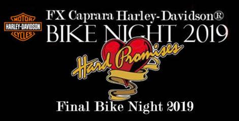 Year End FX Caprara Harley Davidson Bike Night - Thursday @ Syracuse Flooring America's Summer Stage at Sharkey's