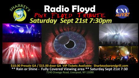 Radio Floyd - Pink Floyd Tribute - Saturday @ Syracuse Flooring America's Summer Stage at Sharkey's
