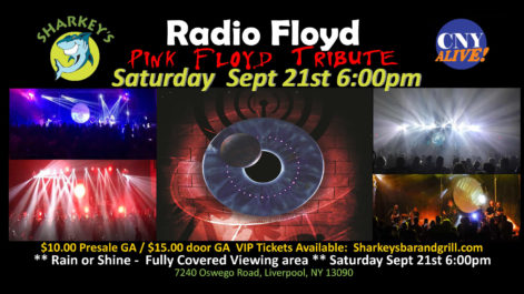 Radio Floyd - Pink Floyd Tribute, w/ Rockin In The Free World - Neil Young Tribute - Saturday @ Syracuse Flooring America's Summer Stage at Sharkey's
