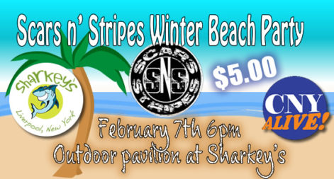 Scars N Stripes Winter Beach Party - $5.00 @ Sharkey's Beach