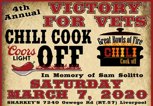 Victory For Vet's 4th Annual Chili Cook Off In Memory Of Sam Solitto @ Sharkey's