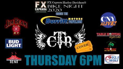 Sharkey's Bike Night – Thursday – Custom Taylor Band @ Sharkey's, under the Burritt Motors Pavilion