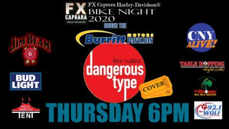 Sharkey's Bike Night – Thursday – Dangerous Type @ Sharkey's, under the Burritt Motors Pavilion