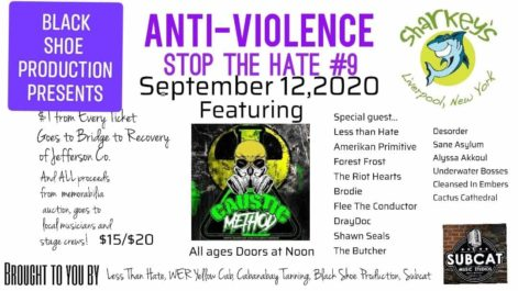 Anti-Violence Stop The Hate #9 - Saturday @ Sharkey's Event Center