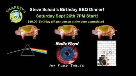 Steve Chad's Birthday BBQ Dinner @ Sharkey's, under the Burritt Motors Pavilion