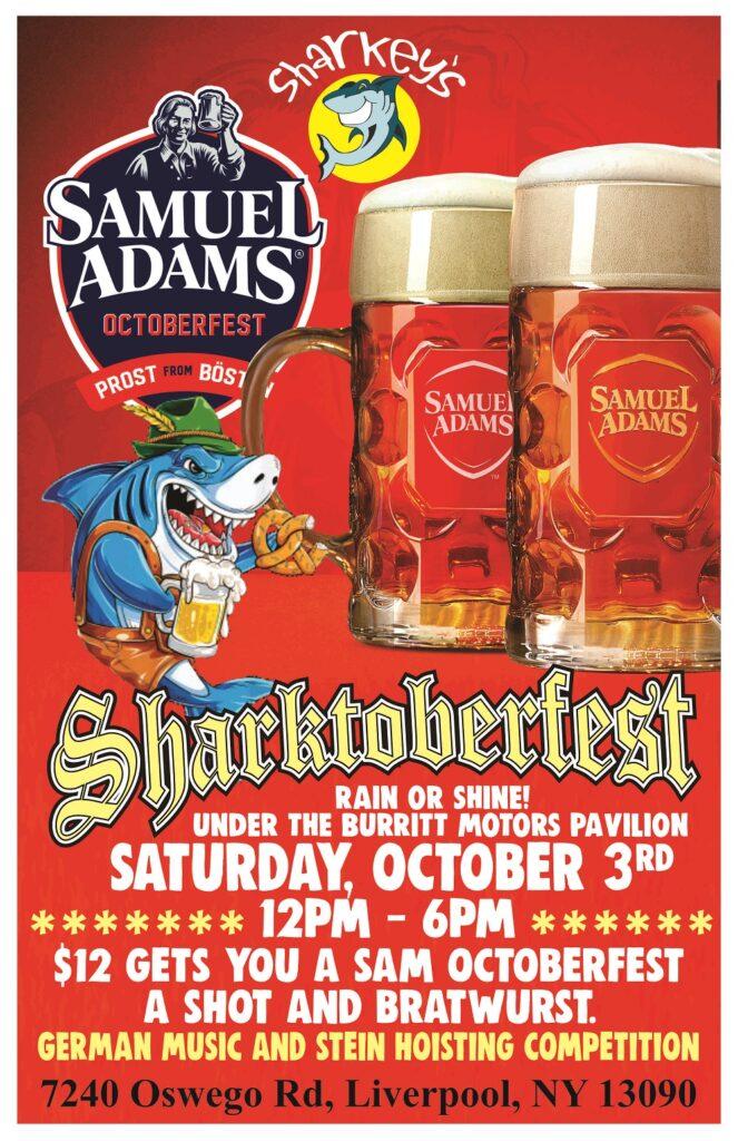 Sharktoberfest - Saturday @ Sharkey's, under the Burritt Motors Pavilion